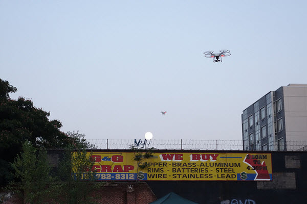 """Photo by Jonathan Harford, """"Drones Over Brooklyn"""" via Flickr"""