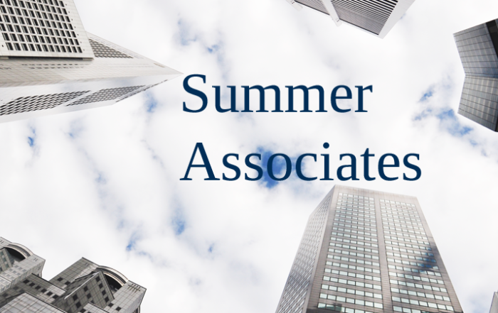 Summer Associates Welcome at The New York Law Institute!