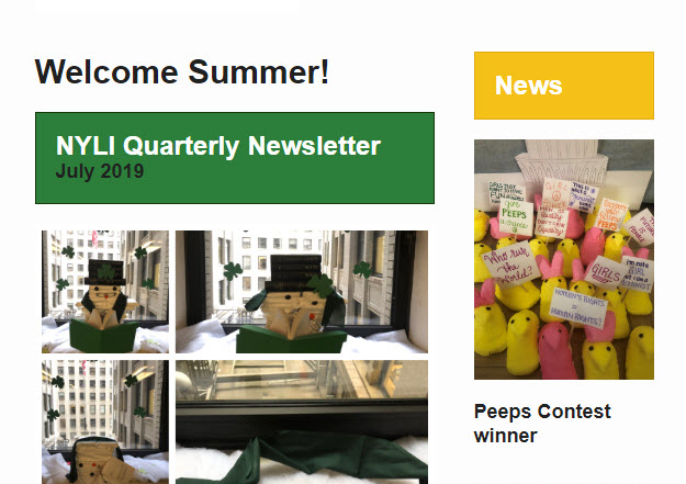 NYLI Quarterly Newsletter – Summer Issue
