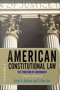 American Constitutional Law : The Structure of Government
