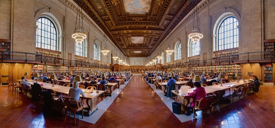 main research room in nypl