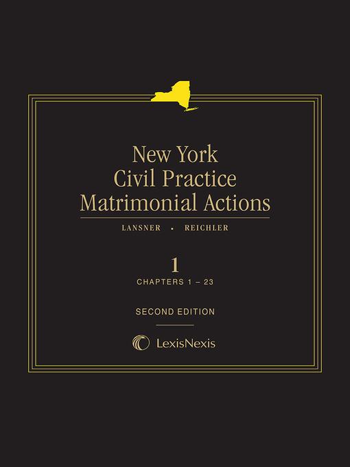 New York Civil Practice Matrimonial Actions