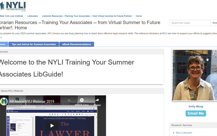 Librarian Resources –Training Your Associates — from Virtual Summer to Future Partner! – New LibGuide