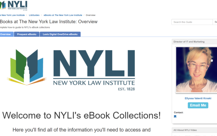 NYLI eBook Collections All-in-One LibGuide